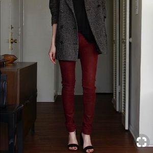 Burgundy stretchy pants